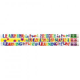 Learning Is Fun Motivational Pencils, 12/pkg