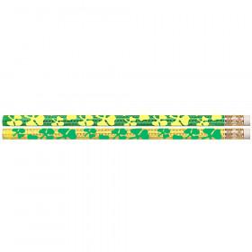 Shamrock Glitz 12Pk Motivational Fun Pencils