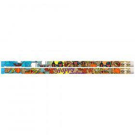 Thanksgiving Glitz Motivational Pencils, 12/pkg
