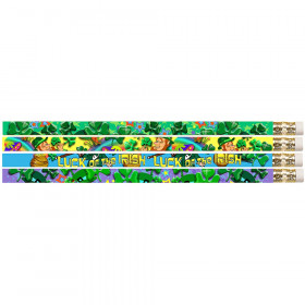 Shamrock Assortment 12Pk Pencils Motivational