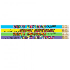 Happy Birthday Wishes Pencil, Pack of 12