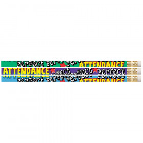 Perfect Attendance Motivational Pencil, Pack of 12
