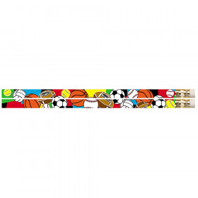 Super Sports Motivational/Fun Pencils, 12/pkg