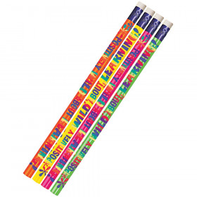 Positively Wild About Learning 12Pk Motivational Fun Pencils