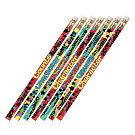 Character Matters 12Pk Motivational Fun Pencils