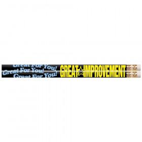 Great Improvement Motivational Pencils, 12/pkg