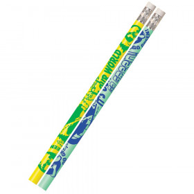 It's Our World, Go Green Motivational/Fun Pencils, 12/pkg