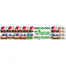 Happy Holidays From Your Teacher Motivational Pencils, 12/pkg