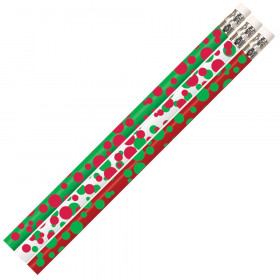 Dots of Christmas Fun Pencil, Pack of 12