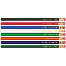 Musgrave No 2 Dozen Wood Case Hex Pencils Assorted Colors