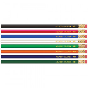 No. 2 Wood Case Hex Pencil, Assorted Colors, Pack of 144