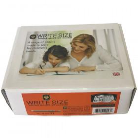 """Write Size Pencils, 4 3/4""""L (Ages 6-10), 72 count box"""