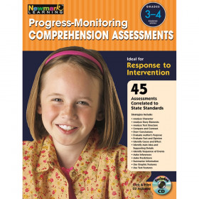 Progress-Monitoring Comprehension Assessments Book & CD, Grades 3-4