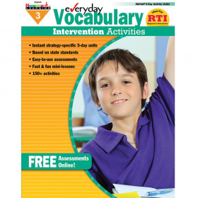 Everyday Intervention Activities for Vocabulary, Grade 3