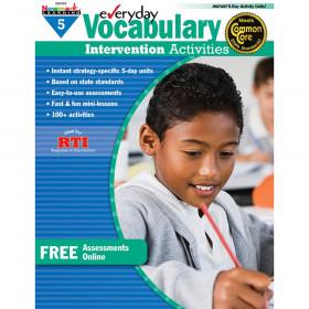 Everyday Intervention Activities for Vocabulary, Grade 5
