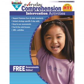 Everyday Comprehension Intervention Activities Book, Grade K