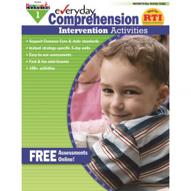 Everyday Comprehension Intervention Activities Book, Grade 1