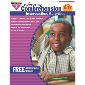 Everyday Comprehension Intervention Activities Book, Grade 2