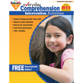 Everyday Comprehension Intervention Activities Book, Grade 3