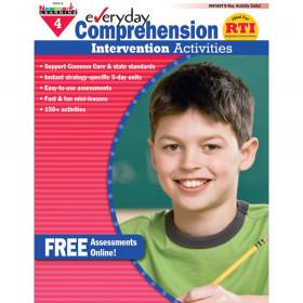 Everyday Comprehension Intervention Activities Book, Grade 4