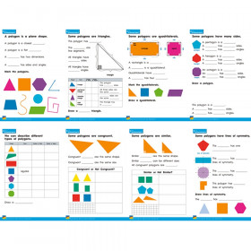 Two-Dimensional Shapes Posters, set of 8