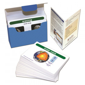 Earth Science Vocabulary Builder Flash Card Set, Middle School