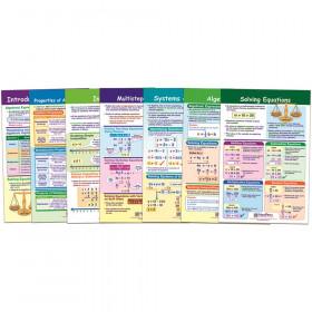 Math Bulletin Board Chart Set, Algebra Skills, Set of 7