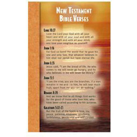 New Testament Bible Verses Memory Cards