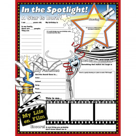 """Fill Me In: In The Spotlight Activity Posters, 17"""" x 22"""", Pack of 32"""