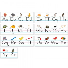 Photo Traditional Manuscript Alphabet Lines Bulletin Board Set