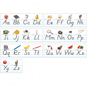 Photo & Modern Manuscript Alphabet Lines Bulletin Board Set