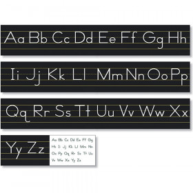 Black Traditional Manuscript Alphabet Line