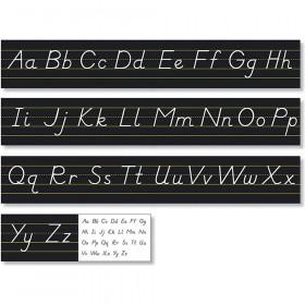 Black Modern Manuscript Alphabet Line