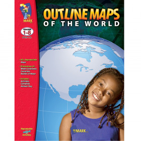 Outline Maps of the World, Grades 1-8