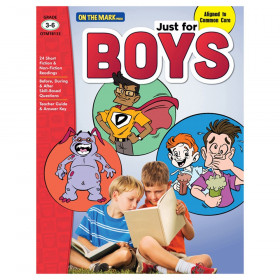 Just for Boys Reading Comprehension, Grades 3-6