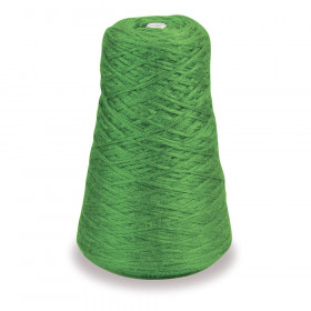 4-Ply Double Weight Rug Yarn Refill Cone, Green, 8 oz., 315 Yards