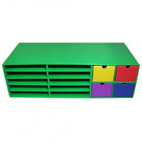 """Crafts Keeper, Green, 9-3/8""""H x 30""""W x 12-1/2""""D"""