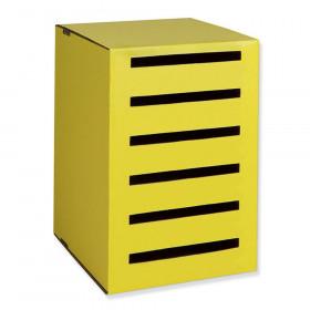 "Homework Collector, Yellow, 17-15/16""H x 12-3/16""W x 13-11/16""D"