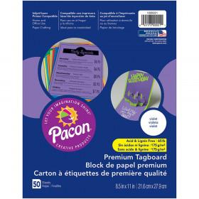 "Premium Tagboard, Violet, 8-1/2"" x 11"", 50 Sheets"
