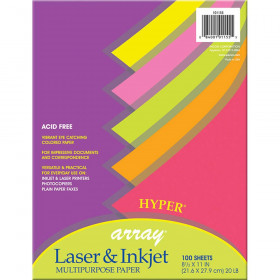 Array Multipurpose 100Sht Hyper Colors 20Lb Paper