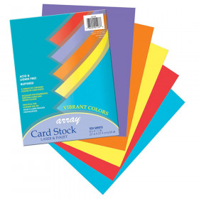 Array Card Stock Vibrant 100 Sht Assortment 5 Colors