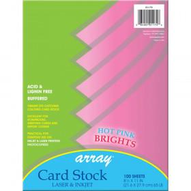 "Card Stock, Hot Pink, 8-1/2"" x 11"", 100 Sheets"