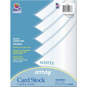 """Card Stock, Classic White, 8-1/2"""" x 11"""", 100 Sheets"""