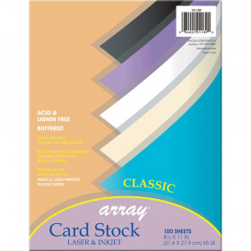 Array Card Stock Classic Colors 100 Count 8.5 X 11
