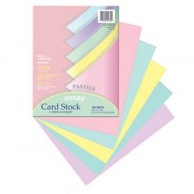 Array Card Stock Pastel 100 Sht 5 Colors 8- 1/2 X 11