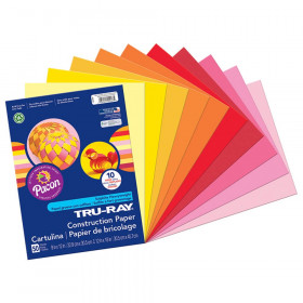 """Construction Paper, Warm Assorted, 9"""" x 12"""", 50 Sheets"""