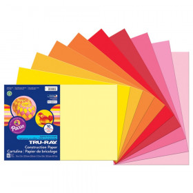 "Construction Paper, Warm Assorted, 12"" x 18"", 50 Sheets"
