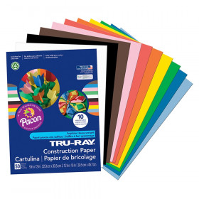 "Construction Paper, Standard Assorted, 9"" x 12"", 50 Sheets"