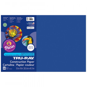 "Construction Paper, Royal Blue, 12"" x 18"", 50 Sheets"