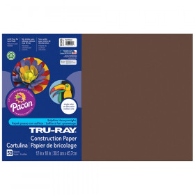 "Construction Paper, Dark Brown, 12"" x 18"", 50 Sheets"